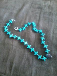 This is nothing like the diamond necklace in the story...but I worked really hard on it, so I'm giving it some shine,